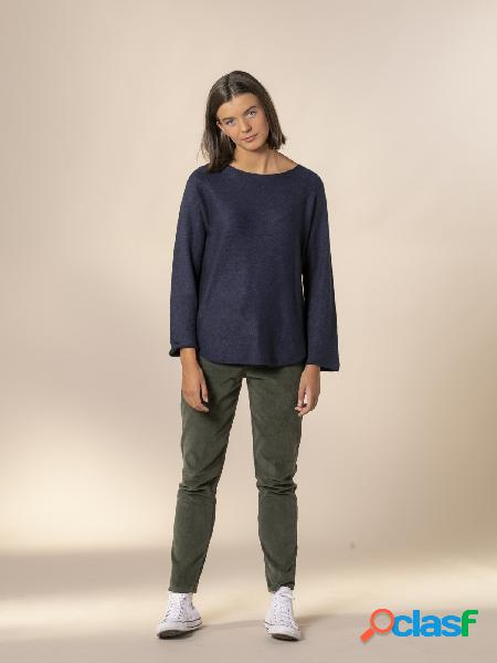 Jersey mujer sin costuras a la vista Azul Marino