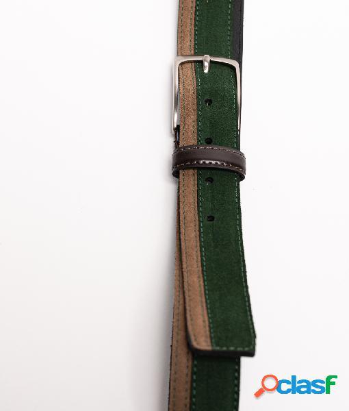 Cinturón de piel Bico - Verde